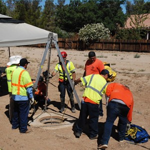 Confined Space Training on site, San Bernardino, Riverside, Inland Empire.
